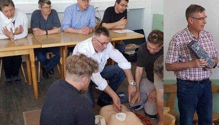 Wochenzeitung - Nördlingen - Defibrillator Schulung
